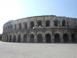Bullfight place in  Nîmes